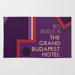 Wes Anderson's Grand Budapest Hotel - Minimal Movie Poster Rug