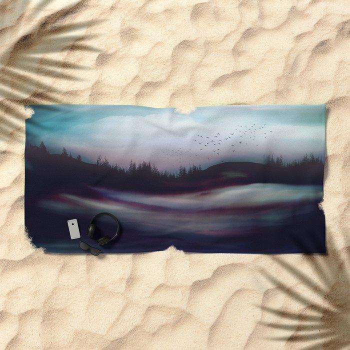 Winter Dawn Beach Towel