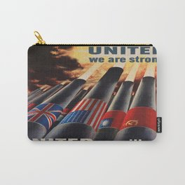 Vintage poster - Allies Carry-All Pouch
