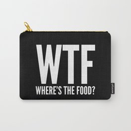 WTF Where's The Food (Black & White) Carry-All Pouch
