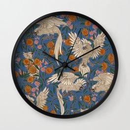 Cockatoos and Pomegranates 2 - Walter Crane Wall Clock