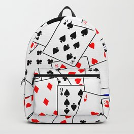 Random Playing Card Background Backpack