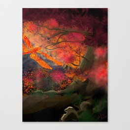 The Dragonfly Tree Canvas Print