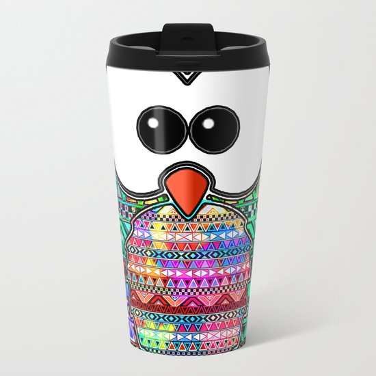 owl aztec tribal best design Metal Travel Mug