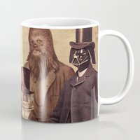 vintage Mugs featuring Victorian Wars  by Terry Fan