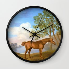 Pumpkin With A Stable-lad - George Stubbs Wall Clock