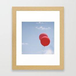 Red Balloons Framed Art Print