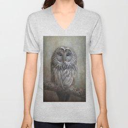 Ural Owl ( Grey owl ) Unisex V-Neck