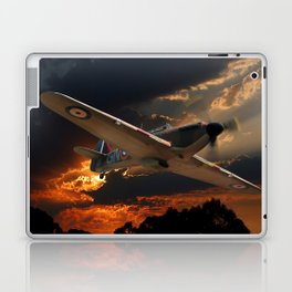 A Fighter Plane Returns Home Laptop & iPad Skin