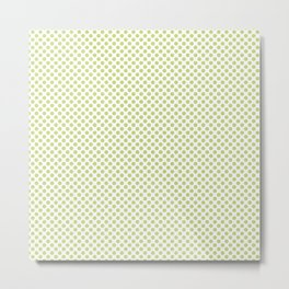 Daiquiri Green Polka Dots Metal Print