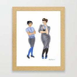 Fashion Journal: Day 12 Framed Art Print