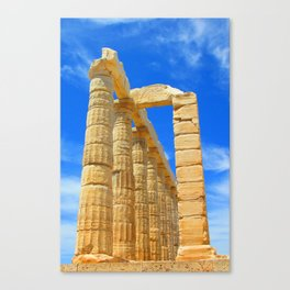The Temple of Poseidon at Sounion II Canvas Print