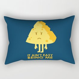 It ain't easy being cheesy Rectangular Pillow