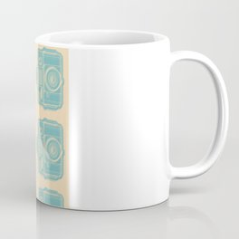 I Still Shoot Film Holga Logo - Reversed Turquoise/Tan Coffee Mug