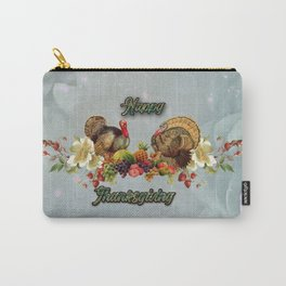 Wonderful Thanksgiving design with fruits and turkey Carry-All Pouch