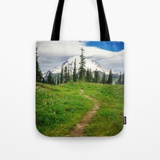 Pathway to the Mountain Tote Bag