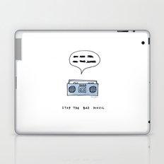Stop the bad music Laptop & iPad Skin