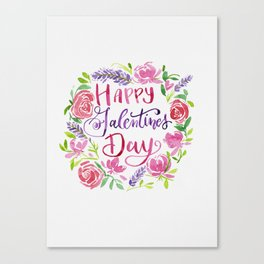 Happy Galentine's Day Canvas Print