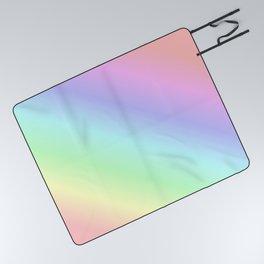 Pastel rainbow Picnic Blanket