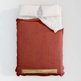 Red And Copper Artist Corbin Henry Name Banner - Red Comforters