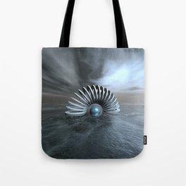 Surreal Frozen Sea Tote Bag