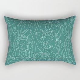 Green Ladies Rectangular Pillow