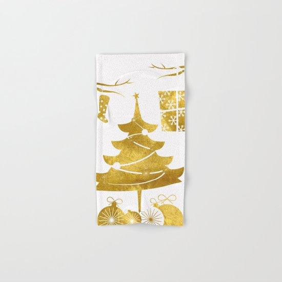 Gold Christmas 03 Hand & Bath Towel