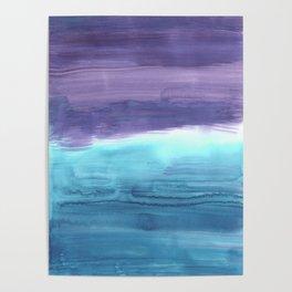 Watercolor summerstripe Poster