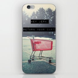 Grocery Cart Rage  iPhone Skin