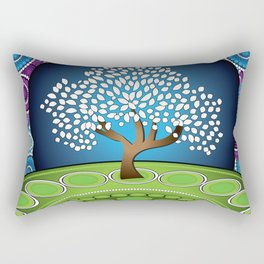 Circle Tree Of Life Rectangular Pillow