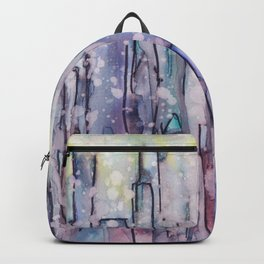 Rainy day in the city Backpack