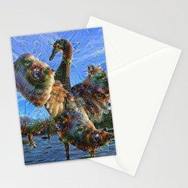 Dream Creatures, Swan, DeepDream Stationery Cards