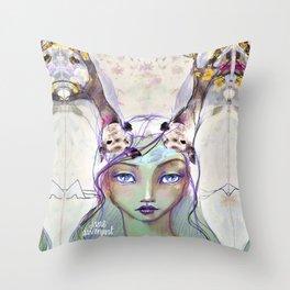 Dear Deer by Jane Davenport Throw Pillow
