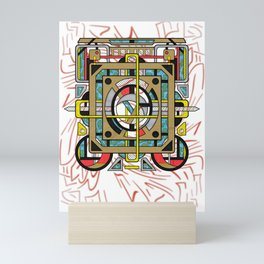 Switchplate - Surreal Geometric Abstract Expressionism Mini Art Print