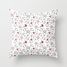 Cute Christmas Baby Seal Pups Pattern Throw Pillow