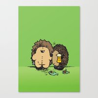 wasted rita Canvas Prints featuring Wasted by mangulica illustrations