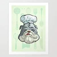 chef Art Prints featuring Chef by Keyspice