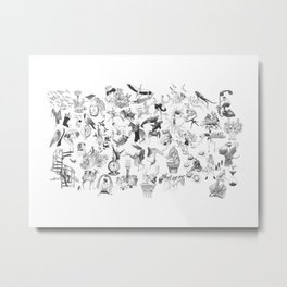 Ink Thougts Metal Print