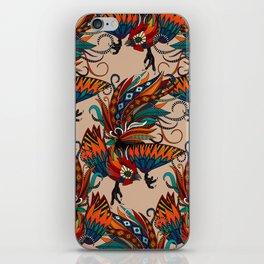 rooster ink beige iPhone Skin