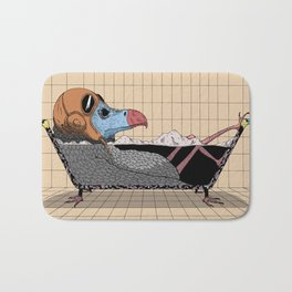 Every bird needs a bath Bath Mat