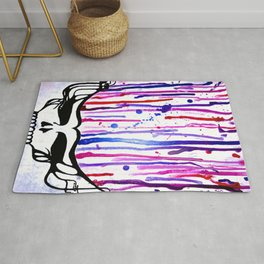 One of a Kind Grateful Dead Head Painting  Rug