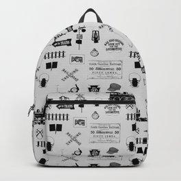 Railroad Symbols // Light Grey Backpack