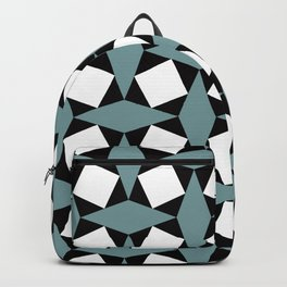Geometric Pattern #188 (gray squares) Backpack