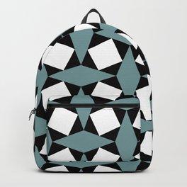 Geometric Pattern 188 (gray diamonds) Backpack