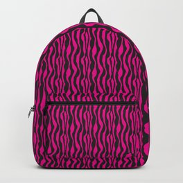 Hot Pink and Black Zebra Pattern Backpack