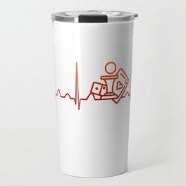 Board Games Heartbeat Travel Mug