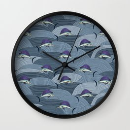 Swordfish Espadon | Pattern Art Wall Clock