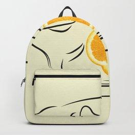 orange telephone Backpack