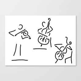 violinist cellist string player contrabass Canvas Print