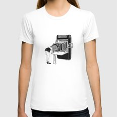 Selfie SMALL White Womens Fitted Tee